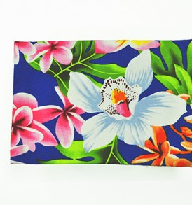 Canvas Coin Purse – Large Plumeria Orchid Royal