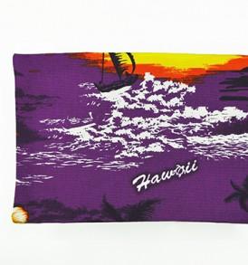 Canvas Coin Purse – Large Waikiki Sunset Purple