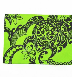 Canvas Coin Purse – Large Tribal Tattoo Lime