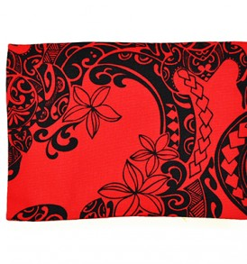 Canvas Coin Purse – Large Tribal Tattoo Red