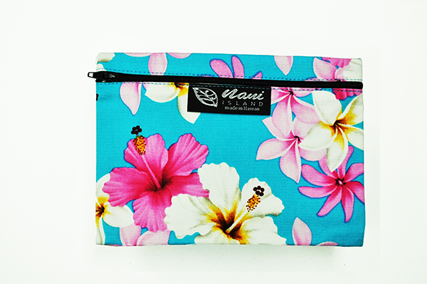 Canvas Coin Purse – Large Dream of Flower Blue