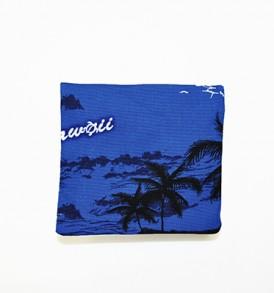 Canvas Coin Purse – Small Waikiki Sunset Blue