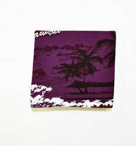 Canvas Coin Purse – Small Waikiki Sunset Purple