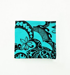 Canvas Coin Purse – Small Tribal Tattoo Blue