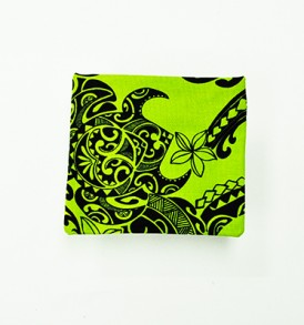 Cosmetic Pouch – Small – Tribal Tattoo Lime