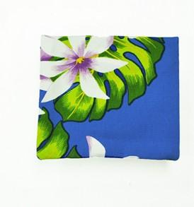 Canvas Coin Purse – Small Tiare Lei Blue