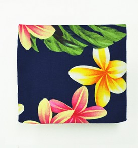 Cosmetic Pouch – Small – Cute Plumeria Navy