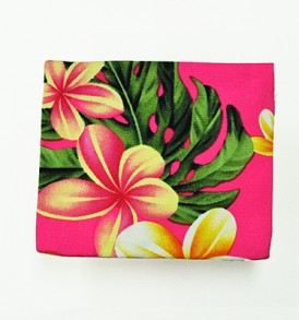 Cosmetic Pouch – Small – Cute Plumeria Pink