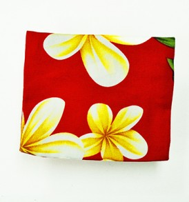 Cosmetic Pouch – Small – Cute Plumeria Red
