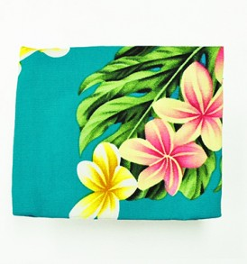 Cosmetic Pouch – Small – Cute Plumeria Teal