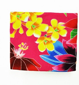 Canvas Coin Purse – Small Hawaiian Garden Pink