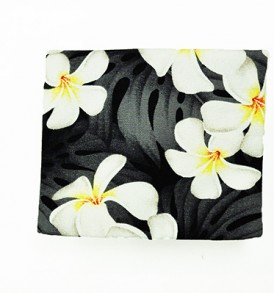 Cosmetic Pouch – Small – Modern Plumeria Black