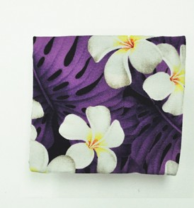 Cosmetic Pouch – Small – Modern Plumeria Purple