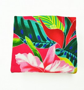 Canvas Coin Purse – Small Tropical Blossom Pink