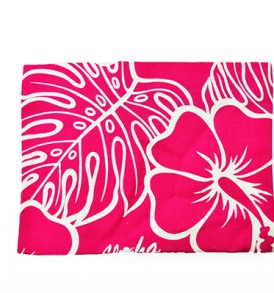 Canvas Zipper Pouch – Large Monstera Lover Pink