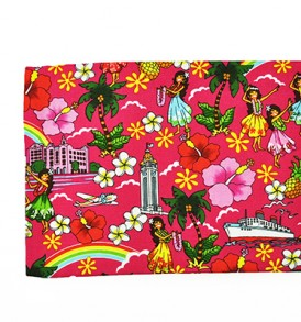 Canvas Zipper Pouch – Large Summer Time Pink