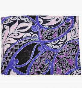 Canvas Zipper Pouch – Large Honua Purple