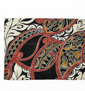 Canvas Zipper Pouch – Large Honua Red