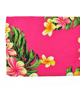 Canvas Zipper Pouch – Large Cute Plumeria Pink