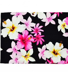 Canvas Zipper Pouch – Large Dream of Flower Black