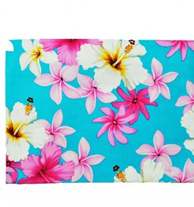 Canvas Zipper Pouch – Large Dream of Flower Blue