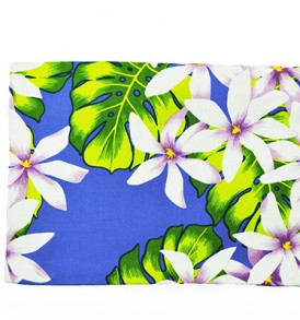 Canvas Zipper Pouch – Large Tiare Lei Royal