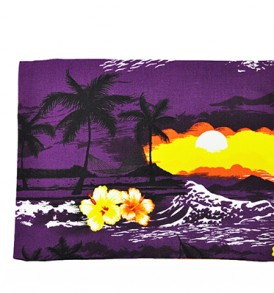 Canvas Zipper Pouch – Large Waikiki Sunset Purple