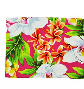 Canvas Zipper Pouch – Large Plumeria Orchid Pink