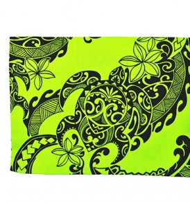 Canvas Zipper Pouch – Large Tribal Tattoo Lime