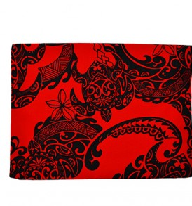Canvas Zipper Pouch – Large Tribal Tattoo Red