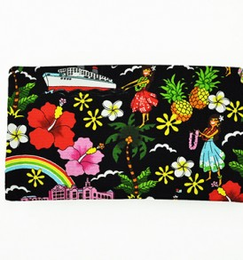Canvas Zipper Pouch – Small Summer Time Black