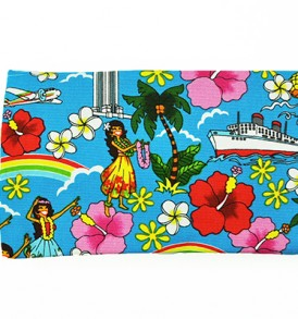 Canvas Zipper Pouch – Small Summer Time Blue