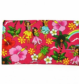 Canvas Zipper Pouch – Small Summer Time Pink