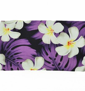 Canvas Zipper Pouch – Small Modern Plumeria Purple