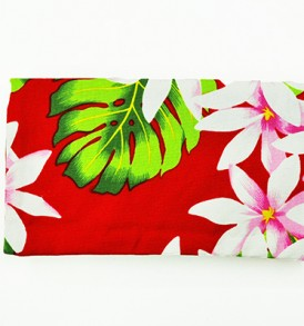 Canvas Zipper Pouch – Small Tiare Lei Red