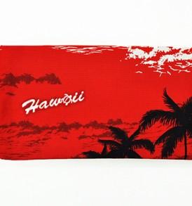 Canvas Zipper Pouch – Small Waikiki Sunset Red