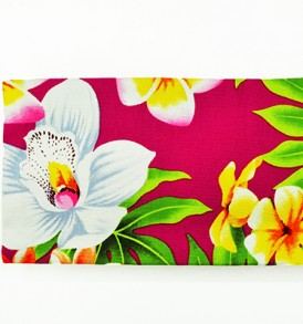 Canvas Zipper Pouch – Small Plumeria Orchid Pink