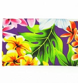 Canvas Zipper Pouch – Small Plumeria Orchid Purple
