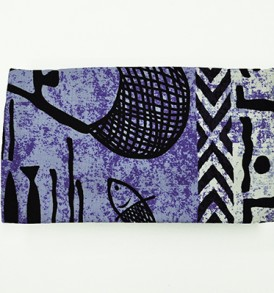 Canvas Zipper Pouch – Small Stickman Purple