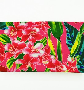 Canvas Zipper Pouch – Small Tropical Blossom Pink