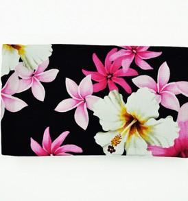 Canvas Zipper Pouch – Small Hibiscus Tiare Black