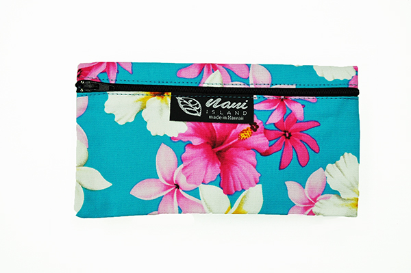 Canvas Zipper Pouch – Small Dream of Flower Blue