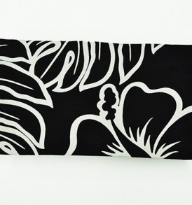 Canvas Zipper Pouch – Small Monstera Lover Black
