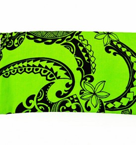 Canvas Zipper Pouch – Small Tribal Tattoo Lime