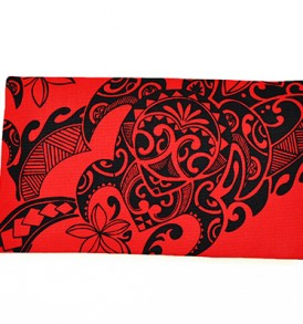 Canvas Zipper Pouch – Small Tribal Tattoo Red