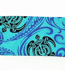 Canvas Zipper Pouch – Small Tapa Shark Honu Blue