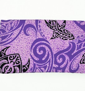 Canvas Zipper Pouch – Small Tapa Shark Honu Purple