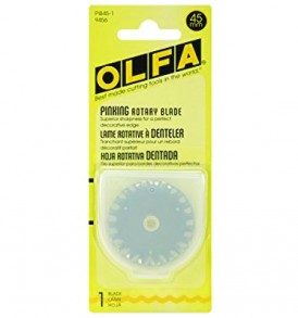 Olfa Rotary Blade Stainless Steel Pinking Refill 45mm 2Pcs