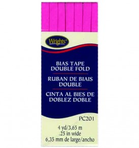 Wrights Tape Double Fold Bias 4yd Berry Sorbet