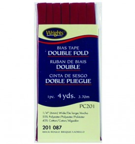 Wrights Tape Double Fold Bias 4yd Brick